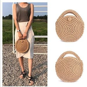 NWT Straw Crossbody Handbag NEW